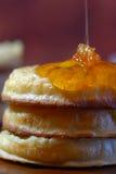 Hot Australian English style breakfast crumpets Royalty Free Stock Photo