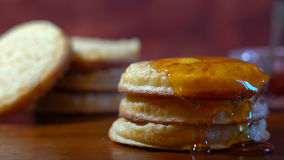 Hot Australian English style breakfast crumpets Stock Images