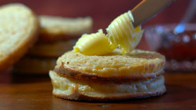 Hot Australian English style breakfast crumpets Royalty Free Stock Images