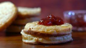 Hot Australian English style breakfast crumpets Stock Photos