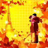 Hot autumn in love on halftone background 1 Stock Photo