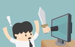 Hot av internet stock illustrationer