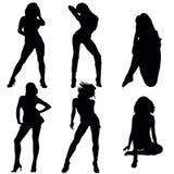 Hot Babes Symbols. Symbols with Hot Babes Stock Image