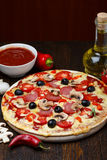 Hot baked pizza Royalty Free Stock Images