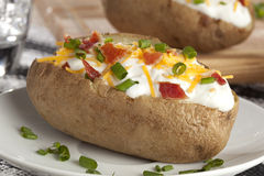 Hot Baked Potato Stock Image