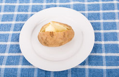 Hot Baked Potato with Butter Royalty Free Stock Photography
