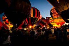 Hot balloon exhibition Stock Photos