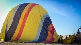 Hot Balloon Landing Stock Photo
