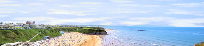 Hot ballybunion panorama Royalty Free Stock Photo