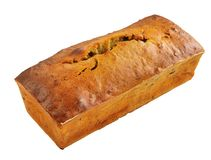 Hot  banana bread isolated on white Stock Photo