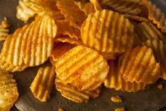 Hot Barbeque Potato Chips Stock Photos