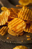 Hot Barbeque Potato Chips Royalty Free Stock Image