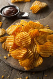 Hot Barbeque Potato Chips Royalty Free Stock Photo
