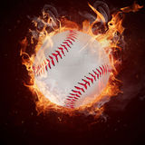 Hot baseball ball Royalty Free Stock Image