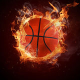 Hot basketball Royalty Free Stock Photos