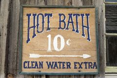 Hot Bath Sign Royalty Free Stock Photos