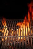 Hot BBQ Grill and Burning Fire XXXL Royalty Free Stock Images
