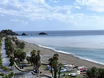 Hot beaches of the Spanish coast royalty free stock images