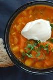Hot bean soup Royalty Free Stock Image