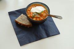 Hot bean soup Stock Photo