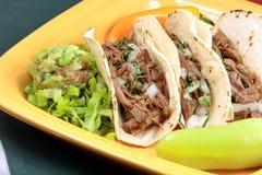 Hot beef tacos Stock Photos