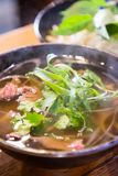 Hot beef vietnamese noodle Stock Photography