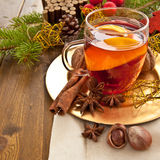 Hot beverage for christmas Stock Images