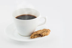 Hot beverage with a snack Royalty Free Stock Photo
