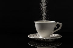 Hot beverage with sugar. Hot drink with sugar added stock photography