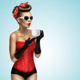 Hot beverage. Royalty Free Stock Image