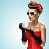 Hot beverage. Royalty Free Stock Images