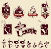 Hot Beverages Labels Royalty Free Stock Images