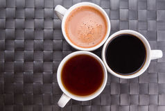 Hot Beverages In Mugs III Royalty Free Stock Image