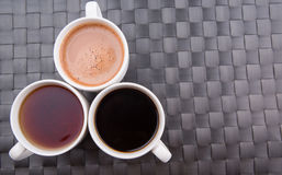 Hot Beverages In Mugs IV Stock Photos