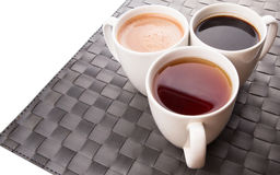 Hot Beverages In Mugs VI Stock Photos