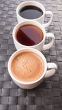 Hot Beverages In Mugs VII Royalty Free Stock Photography
