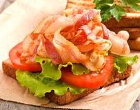 Hot big sandwich Stock Photo