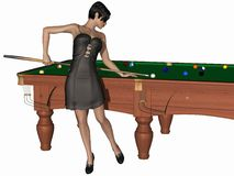 Hot billiards queen Royalty Free Stock Images