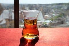 Hot black apple tea Royalty Free Stock Images