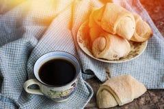 Hot black coffee Royalty Free Stock Photos