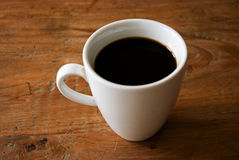 Hot black Coffee. Cup of  hot black coffee Stock Photography