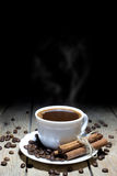 Hot Black Coffee Good Way to Start the Day Stock Image