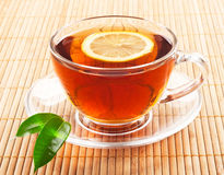 Hot black tea Stock Photography