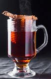 Hot black tea Stock Images