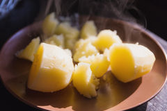 Hot boiled potatoes Stock Images