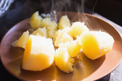 Hot boiled potatoes Stock Image