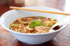 hot bowl of noodles. Royalty Free Stock Photography