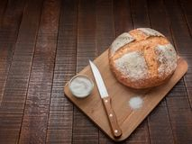 Hot bread and salt. Royalty Free Stock Photo