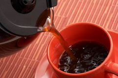Hot brewed coffee Royalty Free Stock Photos