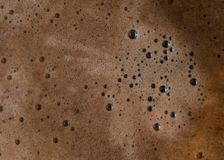 Hot Brewed Coffee Foamy Bubble Background stock photography